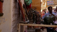 Jaisalmer fort in Rajasthan, India Stock Footage