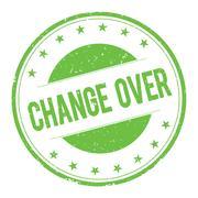 CHANGE-OVER stamp sign Stock Illustration