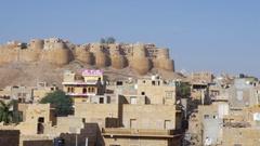 Jaisalmer in Rajasthan, India Stock Footage