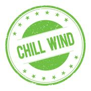 CHILL-WIND stamp sign Stock Illustration