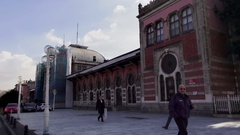 Old Train Station in Istanbul Stock Footage