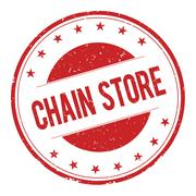 CHAIN-STORE stamp sign Stock Illustration