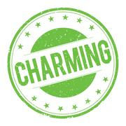 CHARMING stamp sign Stock Illustration