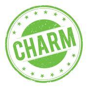 CHARM stamp sign Stock Illustration