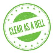 CLEAR-AS-A-BELL stamp sign Stock Illustration