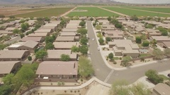Houses Aerial - Real Estate Stock Footage