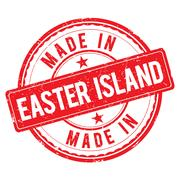 Made in EASTER ISLAND stamp Stock Illustration