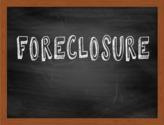FORECLOSURE  hand writing text on black chalkboard Piirros