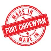 Made in FORT CHIPEWYAN stamp Stock Illustration