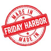 Made in FRIDAY HARBOR stamp Stock Illustration