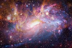 Galaxy and nebula. Elements of this Image Furnished by NASA Kuvituskuvat
