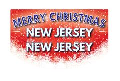 NEW JERSEY NEW JERSEY   Merry Christmas greeting card Piirros