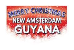 NEW AMSTERDAM GUYANA   Merry Christmas greeting card Piirros