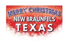 NEW BRAUNFELS TEXAS   Merry Christmas greeting card Piirros