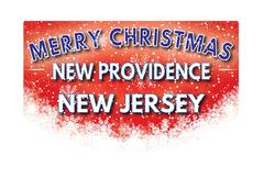 NEW PROVIDENCE NEW JERSEY   Merry Christmas greeting card Piirros