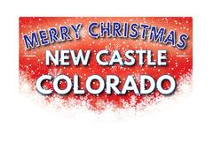NEW CASTLE COLORADO   Merry Christmas greeting card Piirros