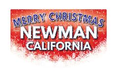 NEWMAN CALIFORNIA   Merry Christmas greeting card Piirros