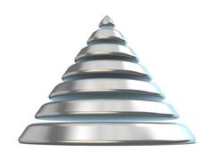 Steel cone with seven levels. 3D Stock Illustration