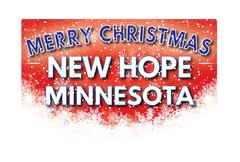 NEW HOPE MINNESOTA   Merry Christmas greeting card Stock Illustration