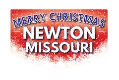 NEWTON MISSOURI   Merry Christmas greeting card Stock Illustration
