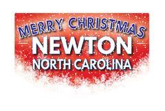 NEWTON NORTH CAROLINA   Merry Christmas greeting card Piirros