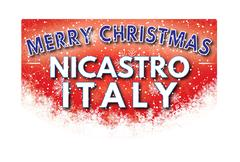 NICASTRO ITALY   Merry Christmas greeting card Stock Illustration