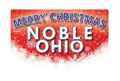 NOBLE OHIO   Merry Christmas greeting card Stock Illustration