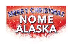 NOME ALASKA   Merry Christmas greeting card Piirros