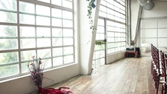 Luxury loft apartment for wedding day Stock Footage