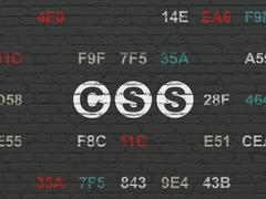 Software concept: Css on wall background Piirros