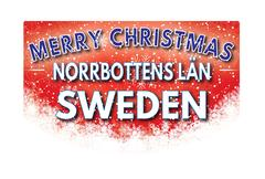 NORRBOTTENS LAN SWEDEN   Merry Christmas greeting card Stock Illustration