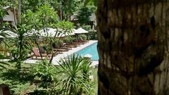 Vacation Travel Pool View Nusa Penida Indonesia 4k Stock Footage