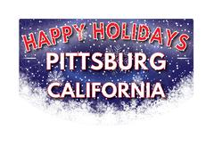 PITTSBURG CALIFORNIA   Happy Holidays greeting card Piirros