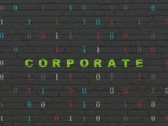 Business concept: Corporate on wall background Piirros