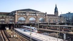 Hamburg Main Station Hyperlapse Stock Footage