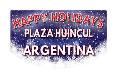 PLAZA HUINCUL ARGENTINA   Happy Holidays greeting card Stock Illustration