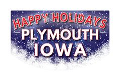 PLYMOUTH IOWA   Happy Holidays greeting card Piirros