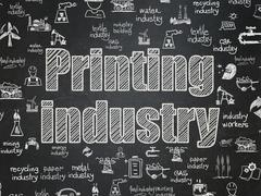 Manufacuring concept: Printing Industry on School board background Stock Illustration