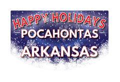 POCAHONTAS ARKANSAS   Happy Holidays greeting card Stock Illustration