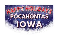 POCAHONTAS IOWA   Happy Holidays greeting card Stock Illustration
