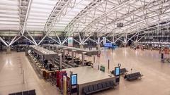 Hamburg Airport Hyperlapse Stock Footage