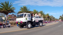 St Augustine Parade Prevent wildfires Stock Footage