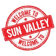 Welcome to SUN VALLEY Stamp. Stock Illustration