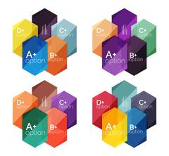 Abstract infographic banners for your content Stock Illustration