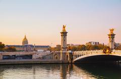 Pont Alexandre III (Alexander III bridge) in Paris, France Stock Photos