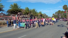 St Augustine Parade Liberty Pines Academy Stock Footage