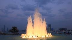 Fountain in Abu Dhabi Stock Footage