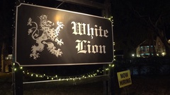 White Lion St Augustine FL Stock Footage