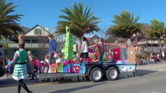 St Augustine Parade elf float Stock Footage