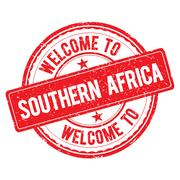 Welcome to SOUTHERN AFRICA Stamp. Stock Illustration